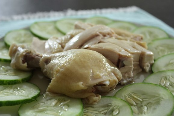 Poached Chicken Rice Recipe