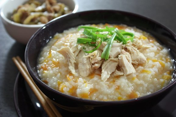 Chicken Congee chicken carrot porridge recipe spring tomorrow