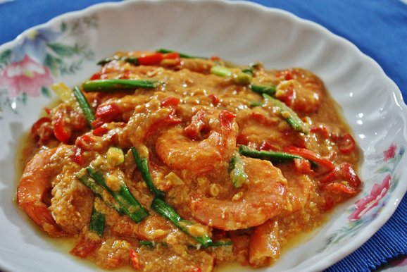 Singapore Chilli Crab Prawns