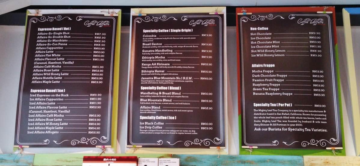 Coffee Affairs Bishop Street Georgetown Penang