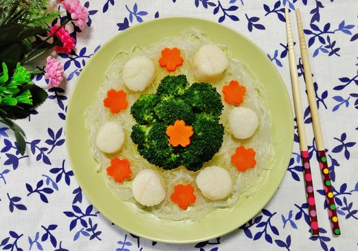 Steamed Scallops Recipe (with glass noodles)