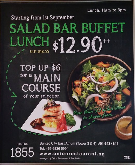 Salad Bar Buffet Bistro 1855