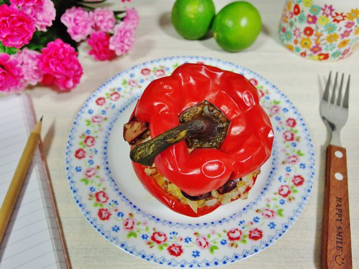 Spring tomorrow singapore food cooking lifestyle blog stuffed peppers with salsa rice and chicken forumfinder Gallery