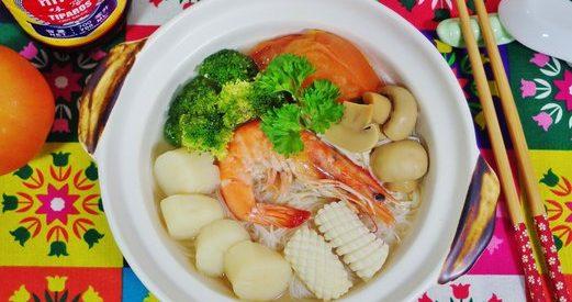 Thai Style Seafood Noodle Soup 1