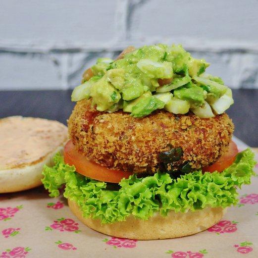 Fish shrimp burger recipe with guacamole spring tomorrow for Fish burger recipe