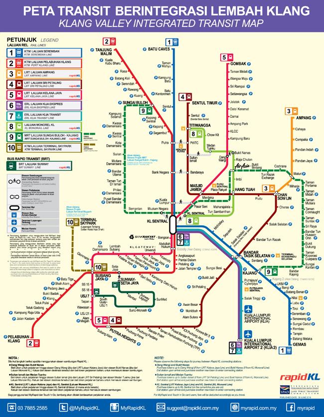 KL Rail Transit Map