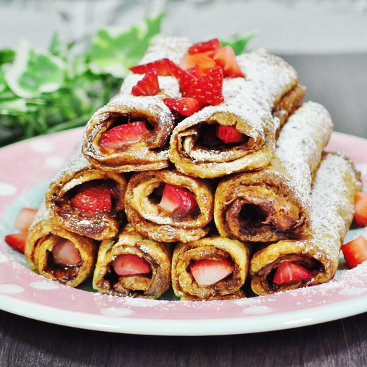 Nutella French Toast Roll Ups Recipe   Spring Tomorrow
