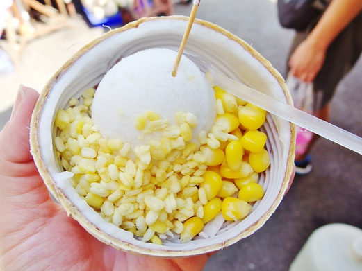 Bangkok Food Guide - What to eat in Bangkok - Coconut Ice Cream