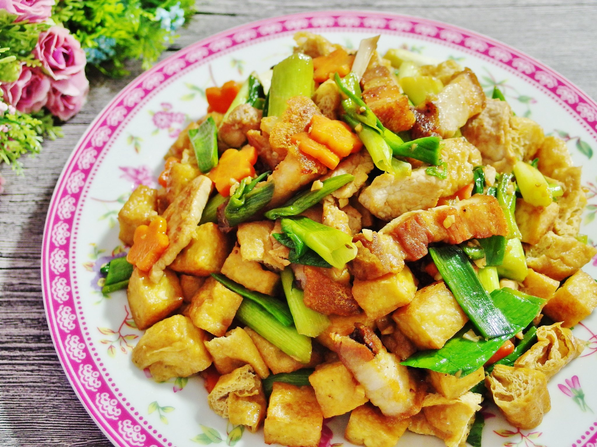Stir Fried Leeks Recipe (with Roast Pork)
