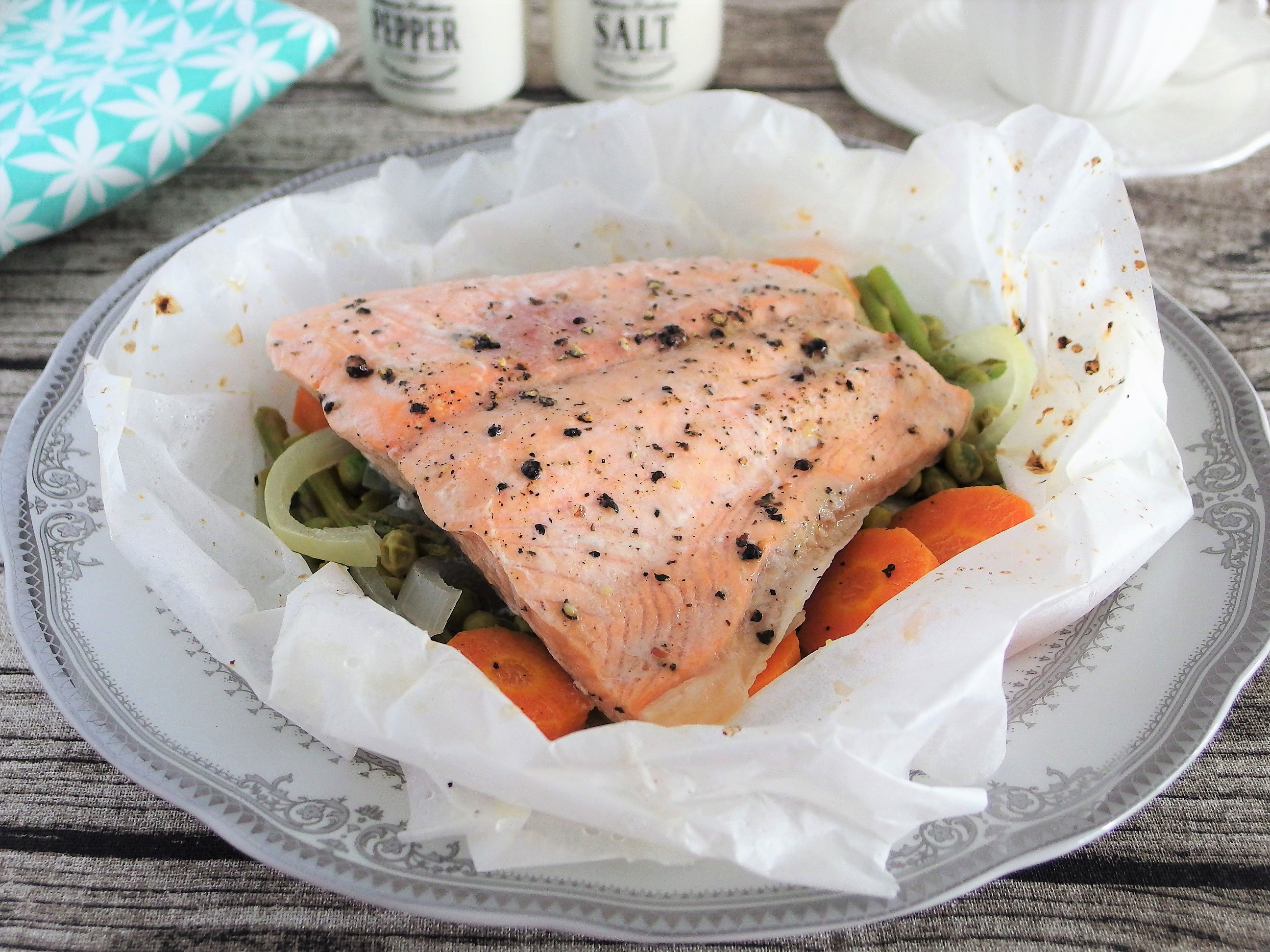 Baked Salmon Parcel Recipe - Quick, Easy & Tasty